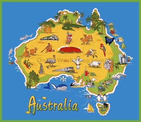 travel map  australia