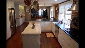 long narrow kitchen island with seating in With kitchen design for long narrow room