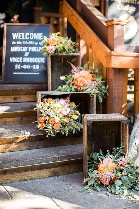 beautiful ways   wooden crates   wedding