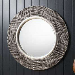 silver beaded wall mirror cm exclusive mirrors
