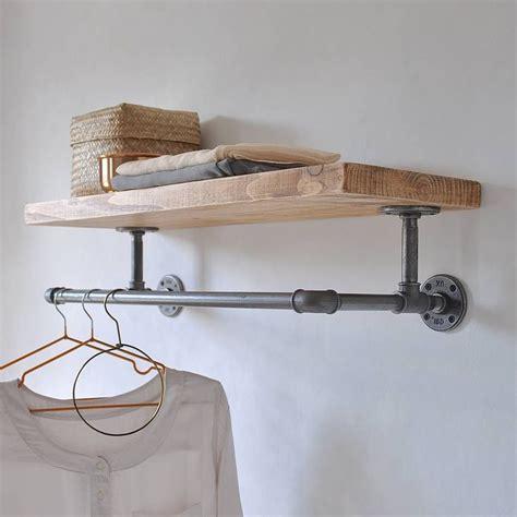 Portobello Industrial Clothes Shelf   Bedroom   Pinterest