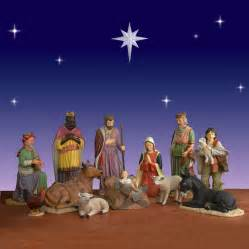 life size nativity set 12 piece outdoor fiberglass 54 quot scale