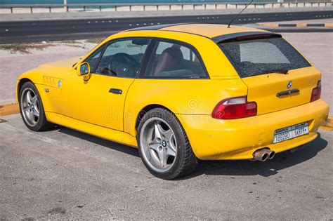 Yellow Bmw Z3 M Coupe Car Stands Parked On The Roadside