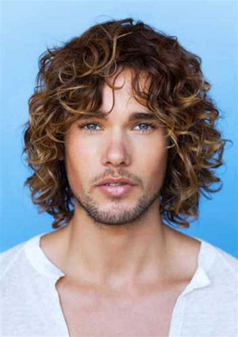 guys  long curly hair mens hairstyles