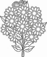 Coloring Bouquet Flower Wife Colorluna sketch template