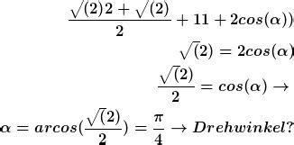 drehung drehachse drehwinkel berechnen