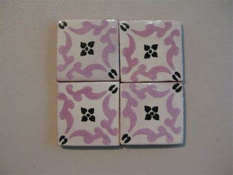 25 T102 Talavera Decorative Tile in Lilac/Black 3x3 (25