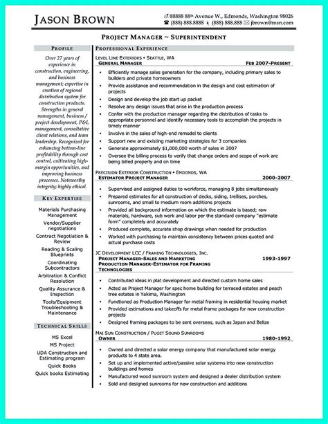 Resume Building Tips Pdf by Construction Superintendent Resume Can Be In Simple Design