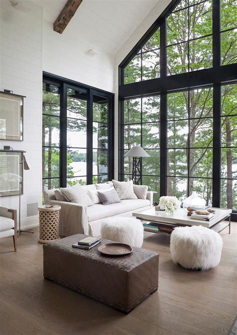 Floor to ceiling black frame windows with the most amazing