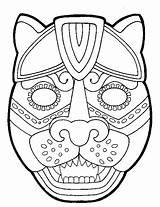 Maya Mask Mayan Caretas Mayas Aztec Colorear Masks Simboli Template Infantiles Mascaras Padres Guia Azteca Maskers Calendario Arte Dibujos Disfraces sketch template