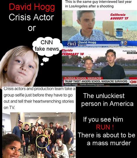 David Hogg Memes - david hogg crisis actor or unluckiest person in america you decide rebrn com