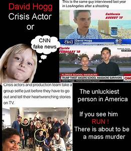 Crisis actor David Hogg : conservativecartoons