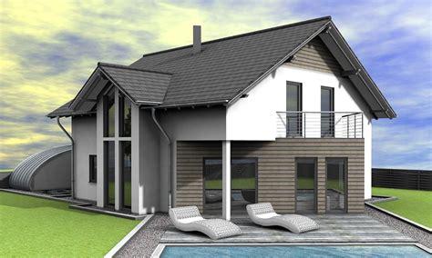 Modernes Satteldachhaus satteldach modern musterhaus modern satteldach haus satteldach