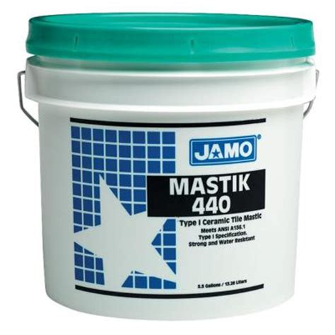 Mastic Tile Adhesive Home Depot by Custom Building Products Jamo 3 1 2 Gal Mastik 440 Type 1