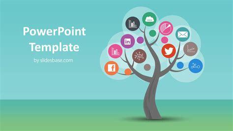 tree diagram powerpoint template slidesbase
