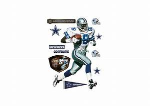 Life size michael irvin wall decal shop fatheadr for for Dallas cowboys wall decals for kids rooms
