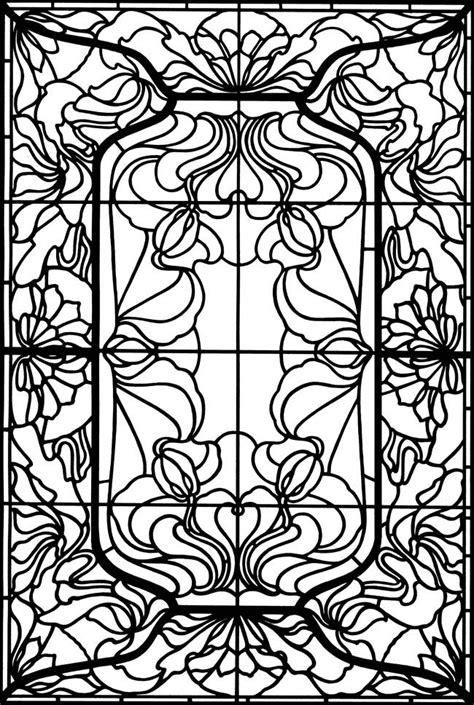 stained glass coloring pages  adults  coloring pages  kids