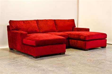 red sectional sofa with chaise red chenille matthews sectional with two chaise