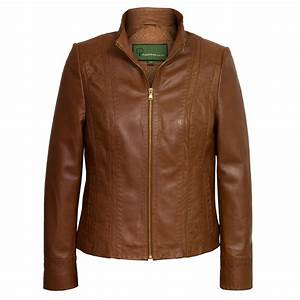 May: Women's Cognac Leather Jacket | Hidepark Leather