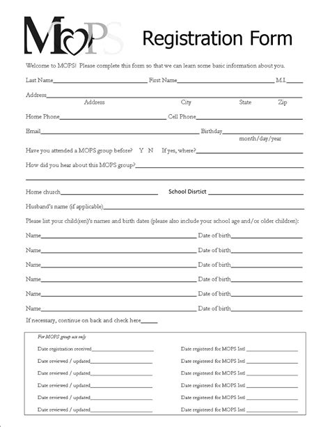 Forms Templates Registration by Event Registration Form Template Word Bamboodownunder