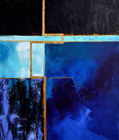 Abstract Black And Blue Painting by Original Abstract Painting Abstract From Mossandblue On Etsy