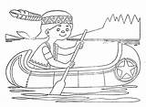 Canoe Coloring Pages Boat Printable Getcolorings sketch template
