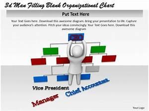 3d Man Filling Blank Organizational Chart Ppt Graphics