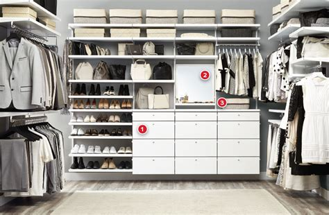 The Closet Shop by White Elfa D 233 Cor His Hers Walk In Closet