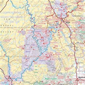 Detailed Utah Road Map Colorado