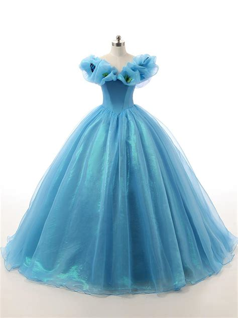 2016 Vintage Fairytale Masquerade Ball Gowns Prom Dresses Real Floor Length Blue Butterfly