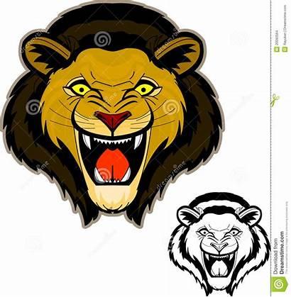Lion Roaring Head Clip Clipart Clipartpanda Mascot