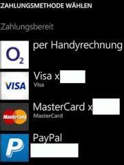 windows phone store mit  karte  handyrechnung zahlen