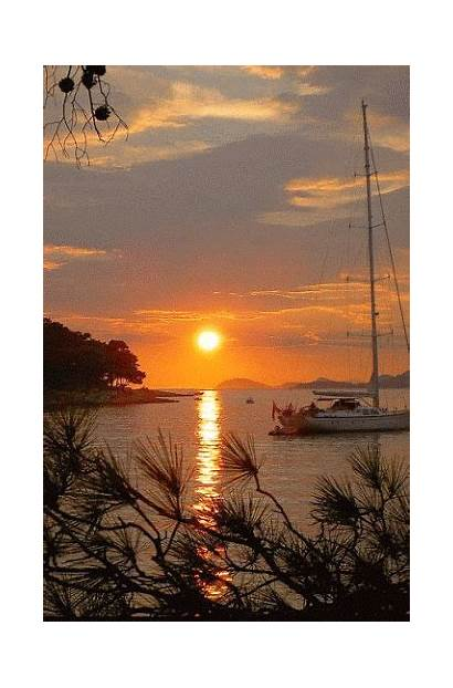 Sunset Croatia Cavtat Adriatic Google Christina Amazing