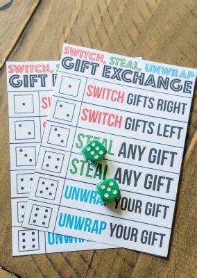 switch steal unwrap luck   dice gift exchange game