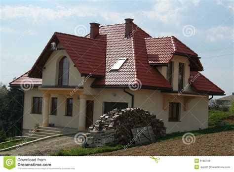 Haus Rotes Dach by House With Roof Stock Image Image Of House Trees