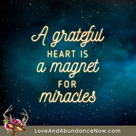 Inspirational Quote Image by A Grateful Is A Magnet For Miracles Grateful
