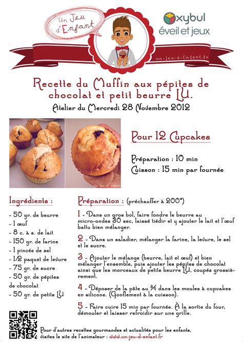 fiche recette muffin mini un jeu d enfant