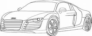 Coluring Page Of Nice Audi Car For Kids