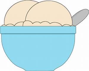 Bowl of Vanilla Ice Cream Clip Art - Bowl of Vanilla Ice ...