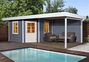 Nie Wieder Streichen : weka gartenhaus 28 mm designhaus 213b gr 1 anbau grau 586x278cm bei ~ Markanthonyermac.com Haus und Dekorationen