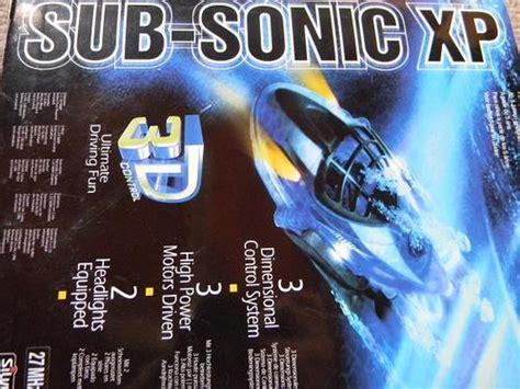 radio control  sonic xp rc submarine water