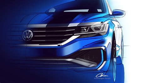 2020 Volkswagen Passat For U.s. Market Teased, Doesn't