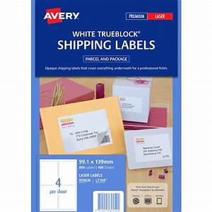 avery laser shipping labels white 100 sheets 4 per page With avery shipping labels 4 per page