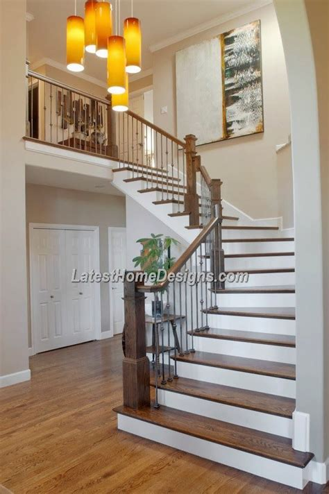 4 Homes With Design Focused On Beautiful Wood Elements by Beautiful Wood Stairs Design For Indian Duplex House