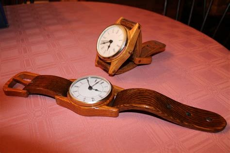 Wooden Wrist Watch Clocks For The Desk Or Wall Hanging