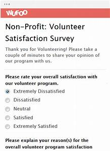 online form template wufoo With volunteer satisfaction survey template