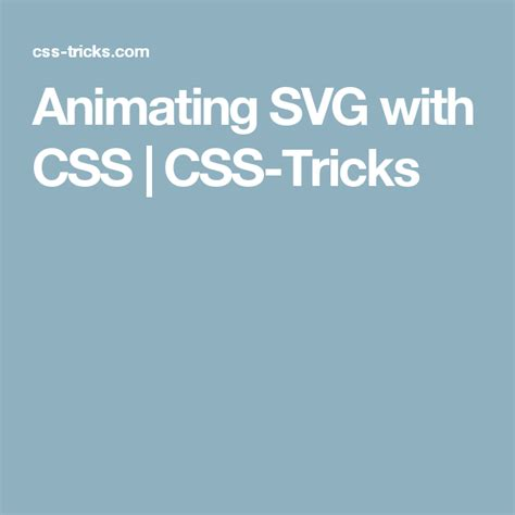 Site features such as rollover buttons. Animating SVG with CSS | Css, Svg, Animation