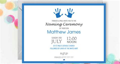 naming ceremony invitation designs templates psd