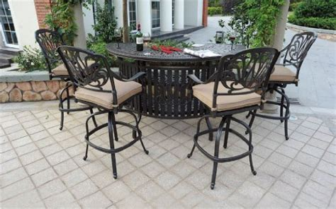 heritage outdoor living cast aluminum elisabeth 5pc