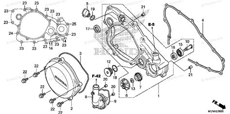 Honda Motorcycle Oem Parts Diagram For Right